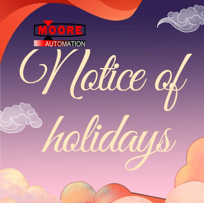 Moore holiday notice